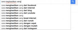 Google suggest.