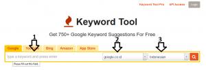 Gunakan tool tersebut untuk memperbanyak keyword.